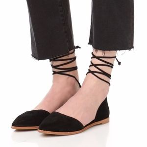Madewell Arielle d'Orsay Black Flats Shoes